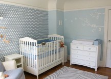 David Hicks Hexagon wallpaper adds sensational style to the nursery