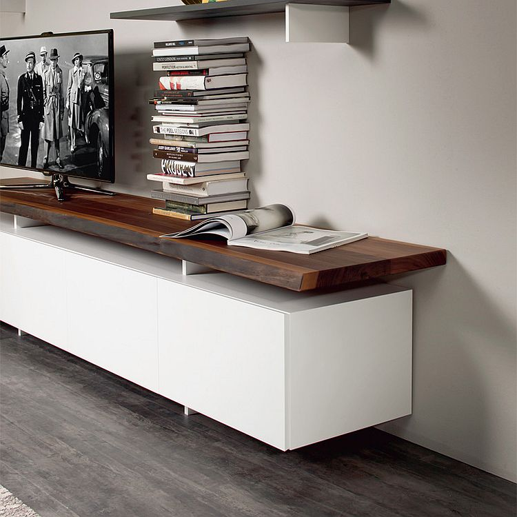 Decorate the TV stand in style with some books