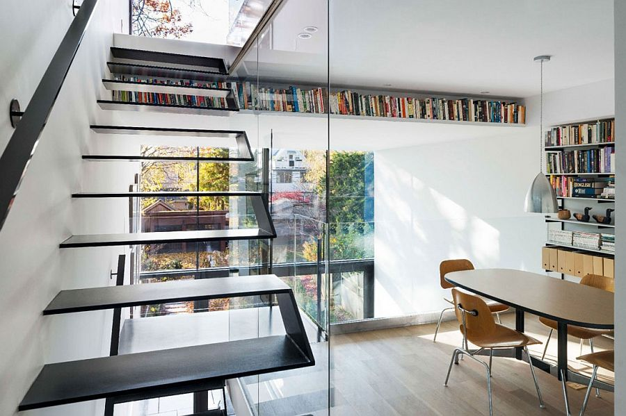 Decorate with books in style to create visual impact