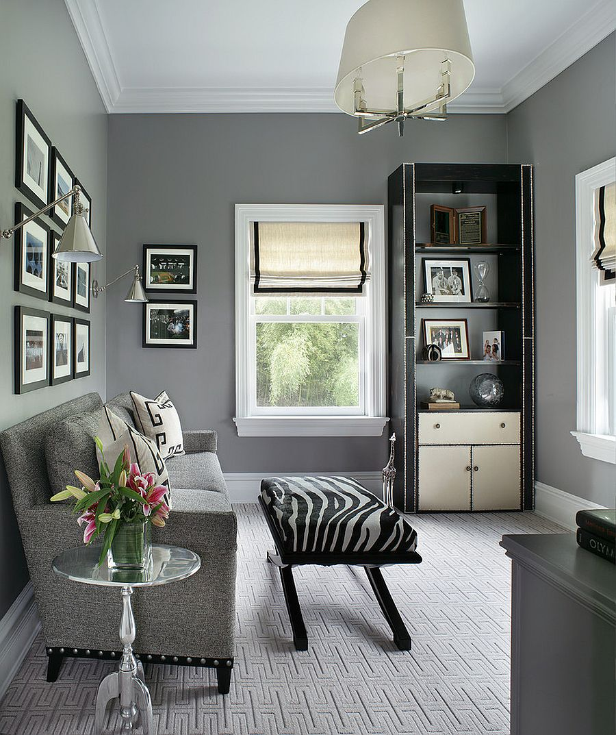 25 inspirations showcasing hot home office trends Home office design color ideas