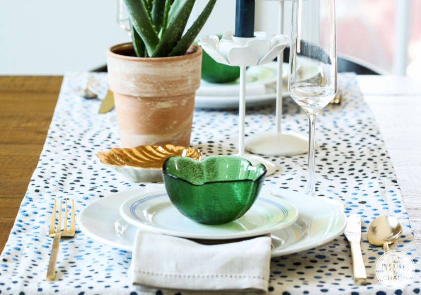 Dot table runner from Inspired by Charm