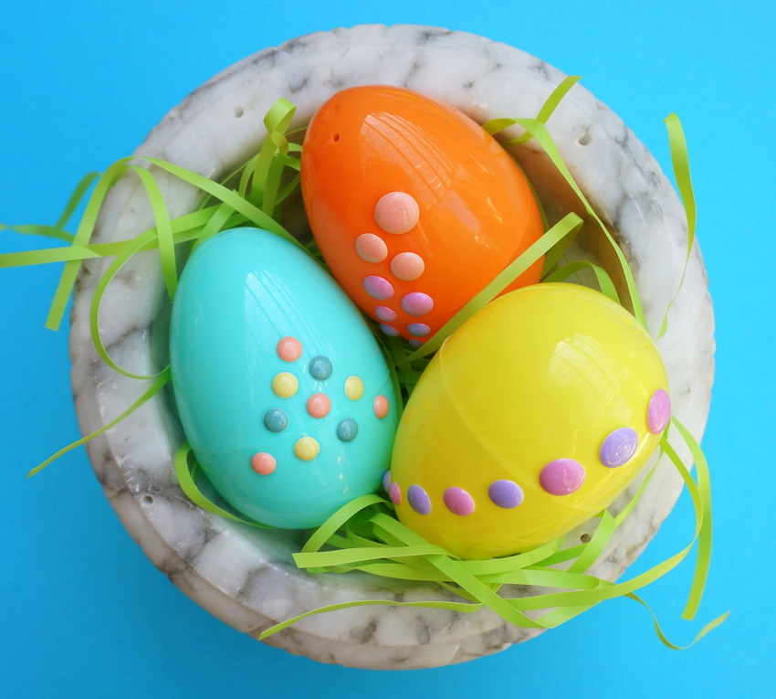 Easter egg sticker decoration project
