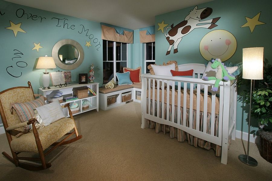 Eclectic nursery design with a splash of blue [Design: Shryne Design]