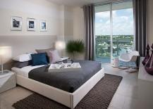 Elegant use of stripes in the modern bedroom