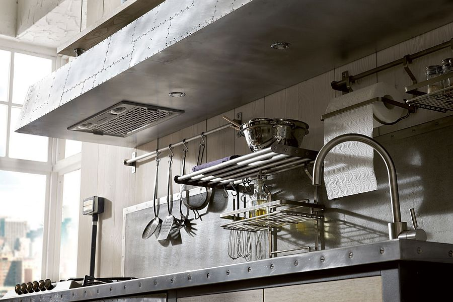 Elements of steel dominate the design of Kitchen 1956