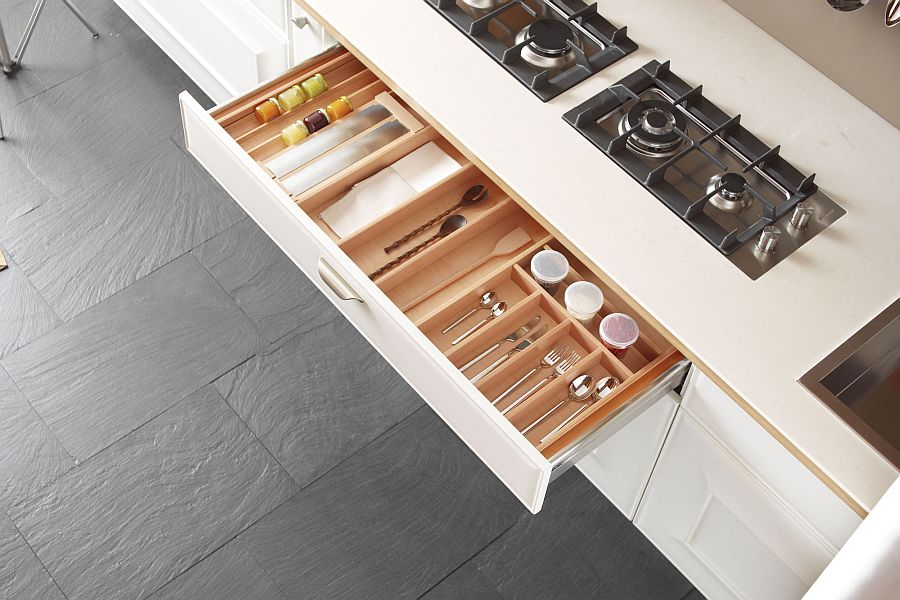 Exclusive kitchen island design with ample cabinet space