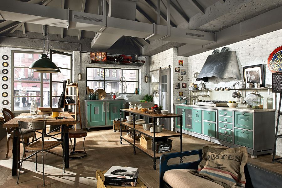 View In Gallery Exclusive Vintage Loft Kitchen From Marchi