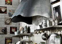 Eye-catching steel hoods add to the timeless appeal of the kitchen