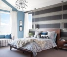 Fabulous bedroom has a cheerful, breezy ambiance