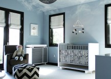 Fabulous nursery attempts to bring in the bright blue sky 217x155 25 Brilliant Blue Nursery Designs That Steal the Show!