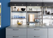 Fabulous standalone kitchen unit with carefully concealed lighting