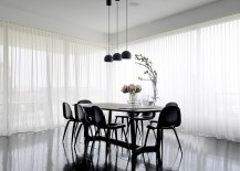 Fascinating dining room design dips into the beauty of black