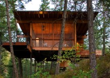 Flathead Lake Cabin Rear 217x155 High Design Off Grid Cabins: Escape from It All in Style