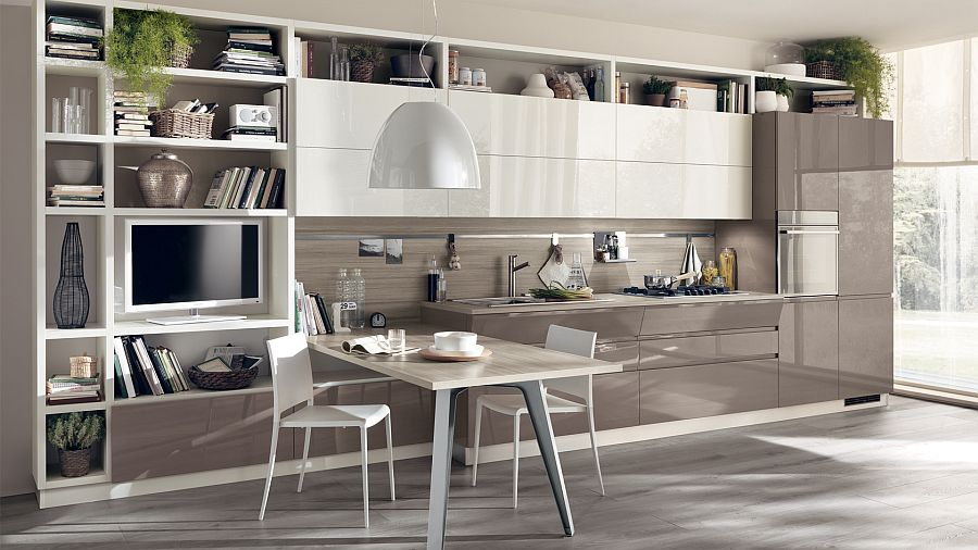 Fluida wall systems give the kitchen compositional freedom