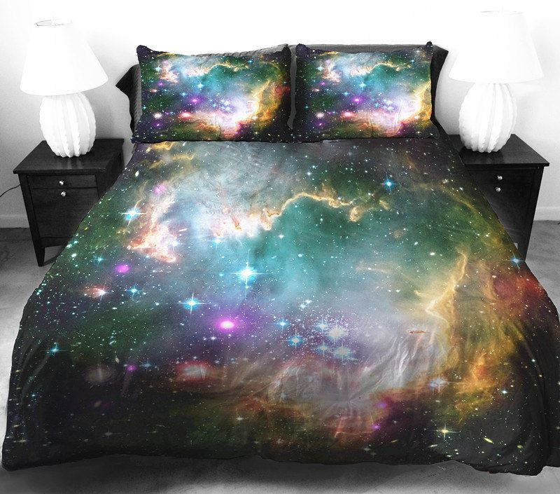 Galaxy bedding from Etsy shop Tbedding