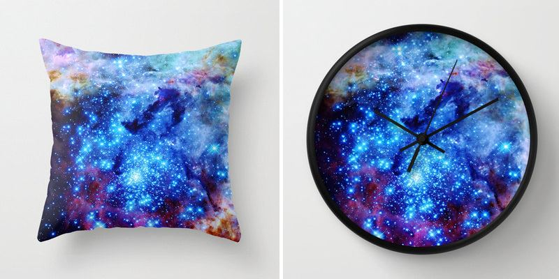 Under The Milky Way Galaxy And Moon Phase Decor