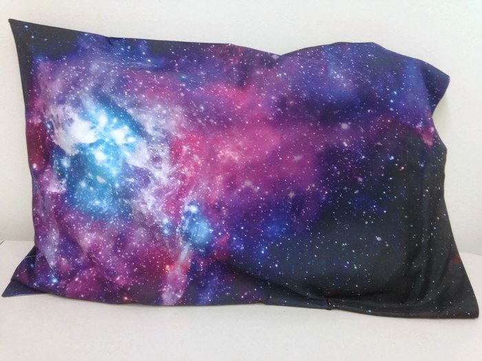 Diy Galaxy Pillow Case: Under the Milky Way  Galaxy and Moon Phase Decor,