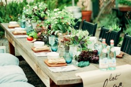 Garden Table Too  Green and Gorgeous Garden-Inspired Table Settings Garden Table Too
