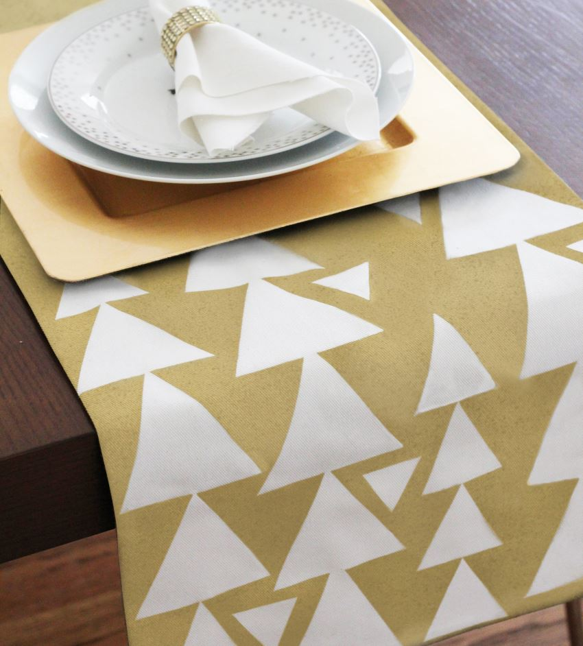 Geo table runner from Ampersand Design Studio
