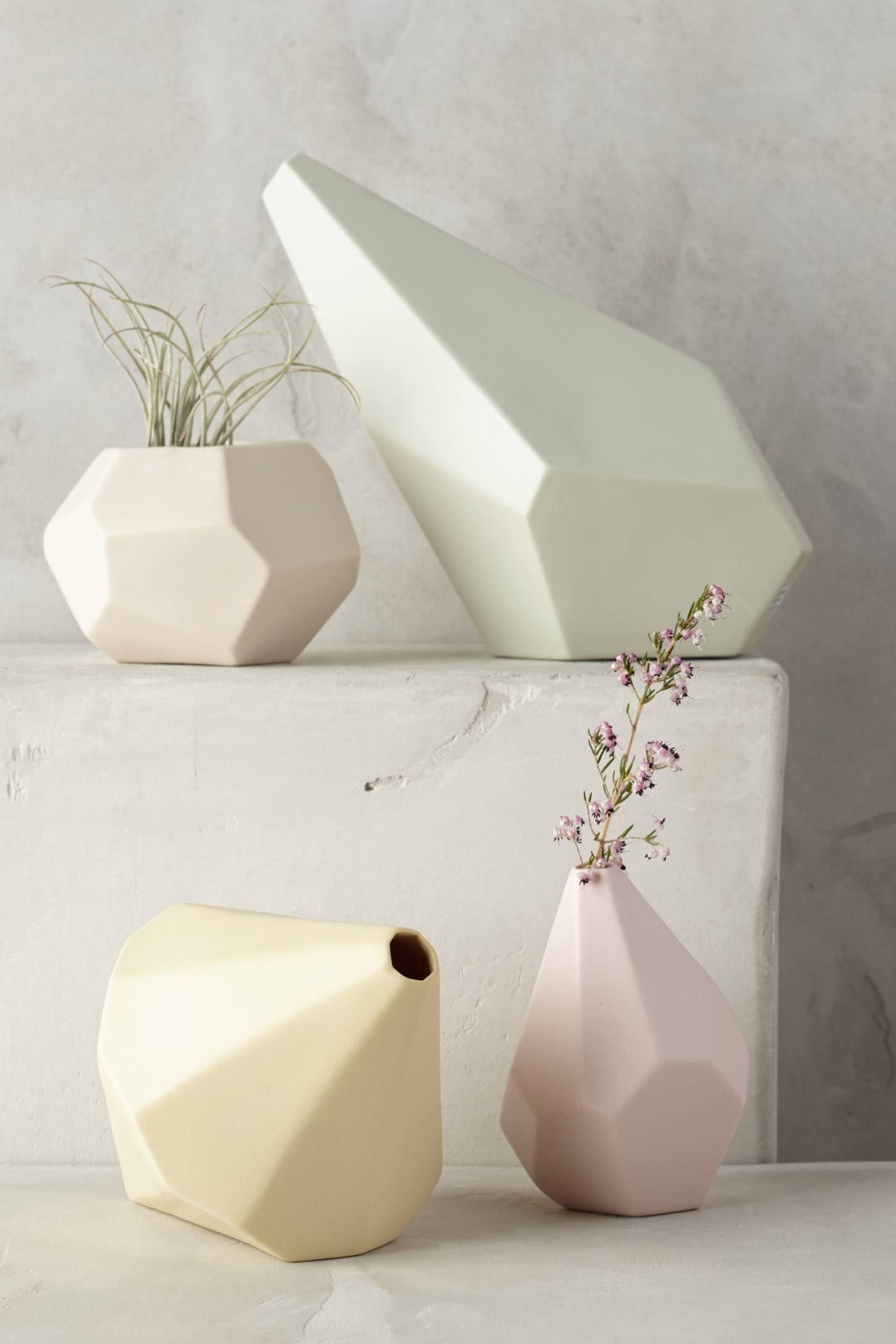 Geo vases from Anthropologie