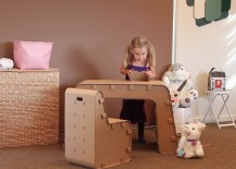 Girl Playing with Desk