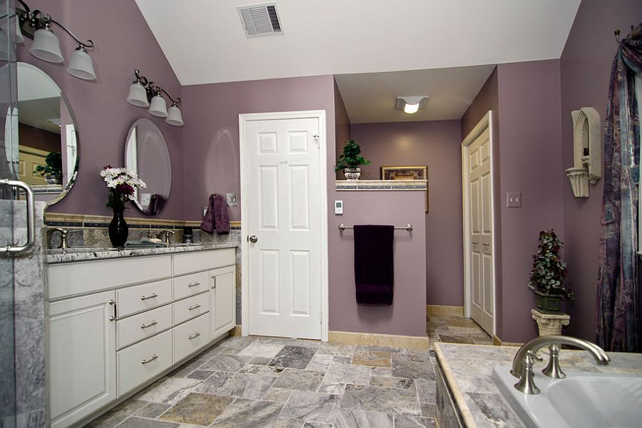 Give your contemporary bathroom some purple magic! [Design: Summit Design Remodeling]