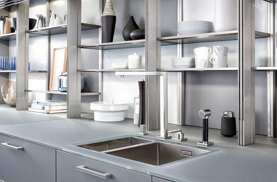 Give your kitchen a fabulous makeover with sleek and organized open shelves