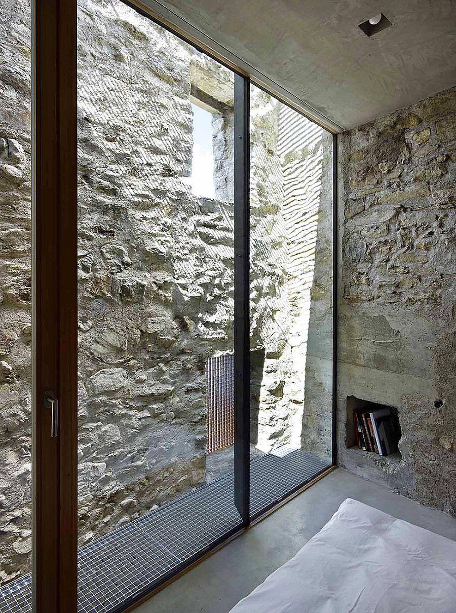Glass walls bring natural light indoors