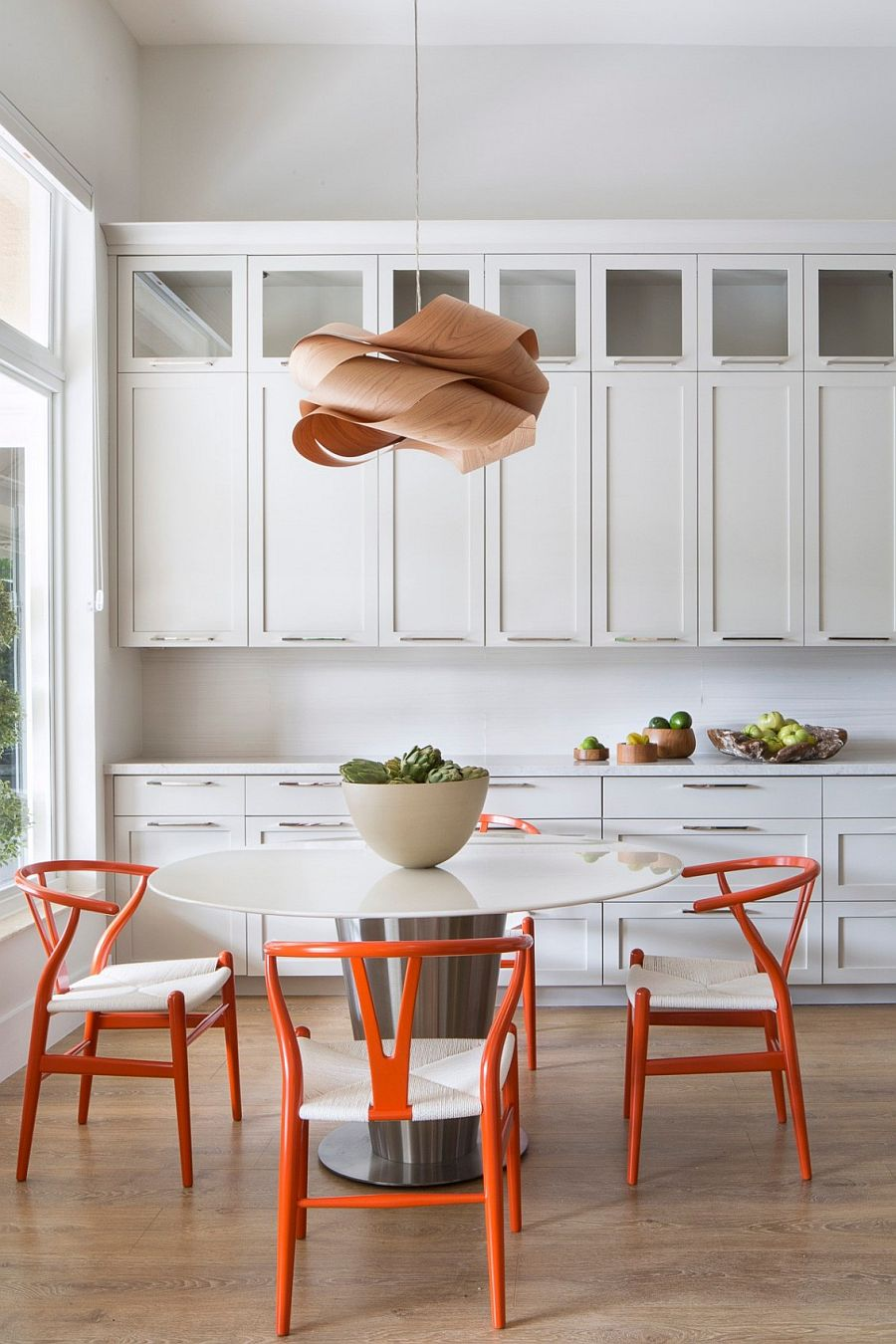 Gorgeous Link Pendant light above the breakfast nook