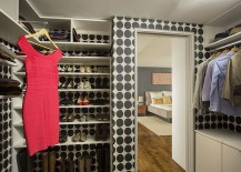 Gorgeous contemporary walk-in closet idea