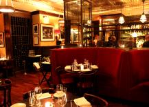 Grape and Vine Restaurant Opulent Red Speakeasy Decor