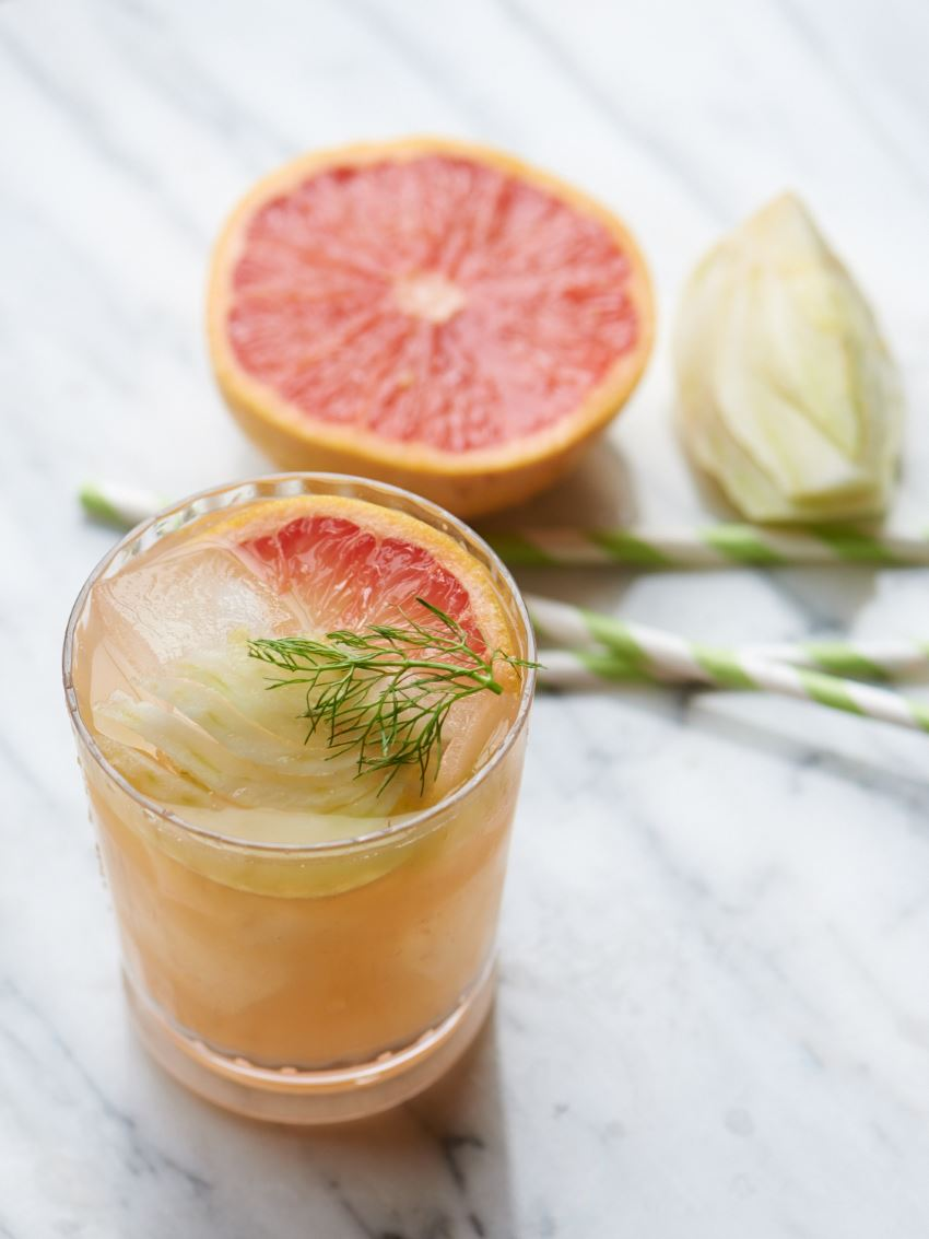 Grapefruit fennel cocktail from Camille Styles