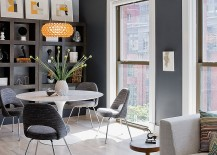 Gray is an ideal backdrop for open plan living spaces