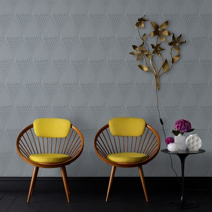 Gray wallpaper design from Graham & Brown