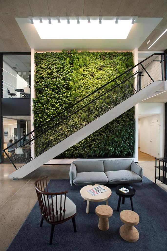 View in gallery Green Wall in Skanska Office