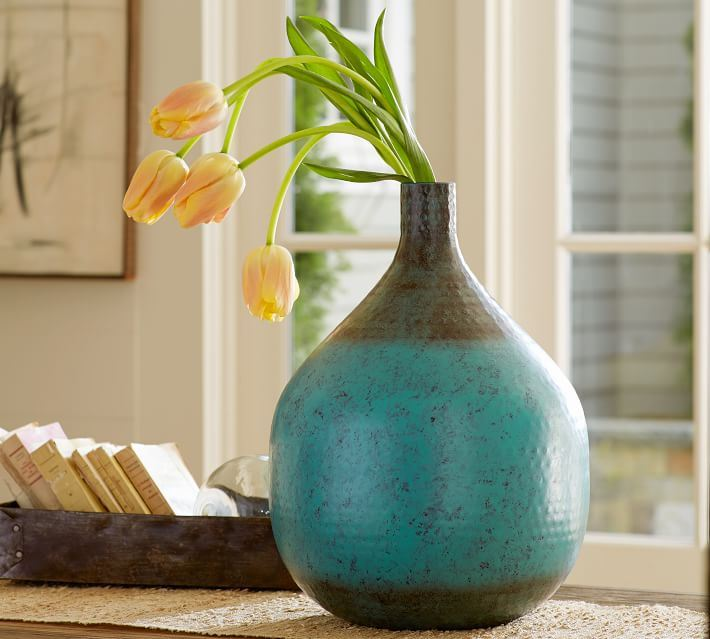 Hammered vase from Pottery Barn