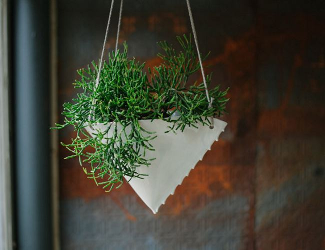 Hanging planter from Etsy shop Taylor Ceramics