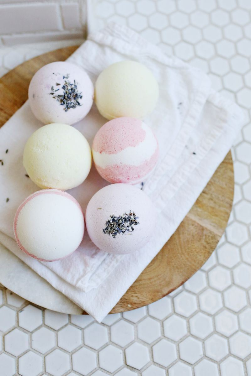 Homemade bath bombs from A Beautiful Mess