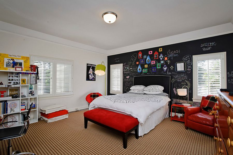 how about giving your kid a dynamic chalkboard accent wall from dennis mayer