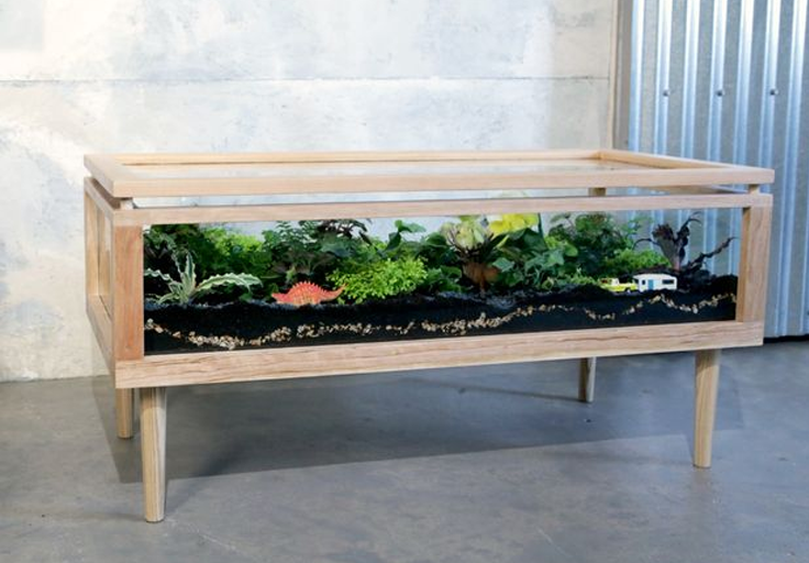 How to Make a Terrarium Table
