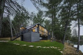 Classy Cottage in Quebec Brings Modern Aesthetics to Traditional Design