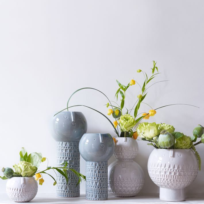 Intricate terracotta vases from West Elm