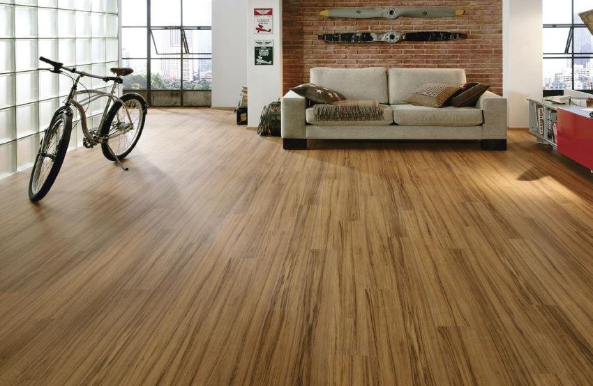 Laminate flooring in a modern living room