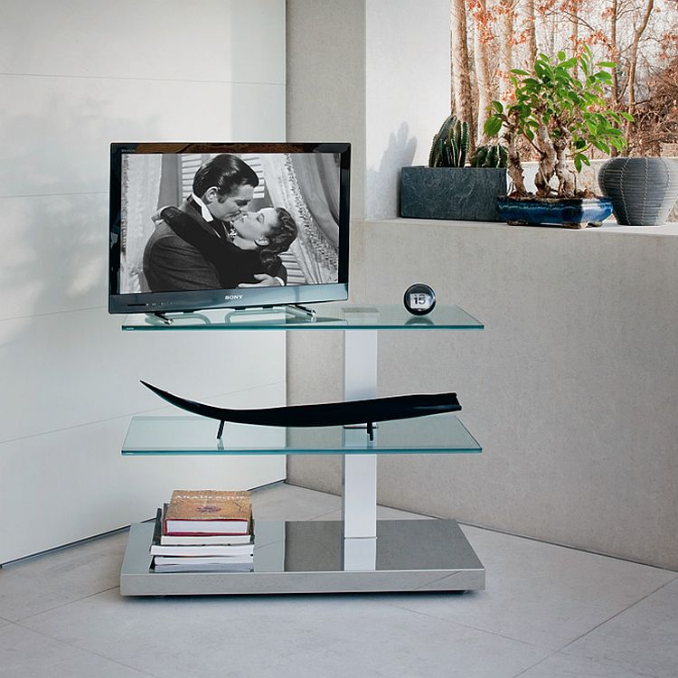 Let the trendy TV Unit fit into even the tiniest corners