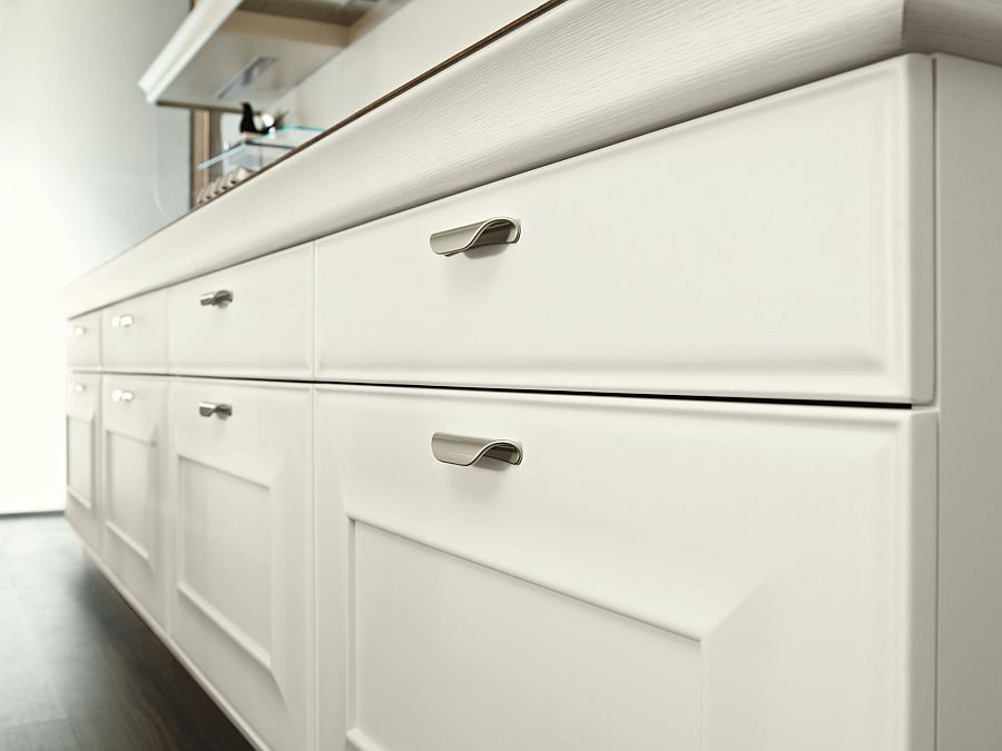 Light white oak gives the kitchen a contemporary look