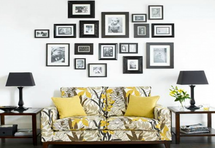 living room frames 11 smart and creative big blank wall solutions 10455