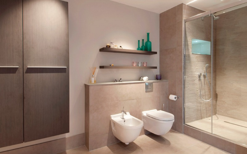 Toilet and Bidet Combination in Modern Bathroom: Awesome Bathroom With  Combination Toilet And Bidet System
