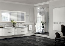 Magnifica bathroom in Prestige White lacquer oozes sophitication