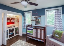 Make use of the limited space on offer in the nursery