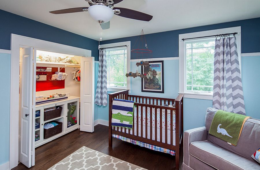 Make use of the limited space on offer in the nursery [Design: CG&S Design-Build]